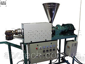 Экструдер для пластмасс, Червячный пресс для пластика, Экструзионно-выдувная машина для тары до 1л, гранулятор