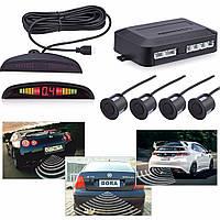 Парктроник автомобильный на 4 датчика + LCD монитор Black универсальный
