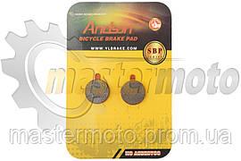 Колодки тормозные вело дисковые, к-т, 18.6х4х24.3