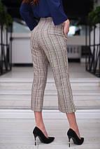 """Укороченные женские брюки в клетку """"MARIO"""" с карманами (2 цвета), фото 2"""