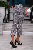 """Укороченные женские брюки в клетку """"MARIO"""" с карманами (2 цвета), фото 3"""