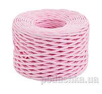 Шпагат бумажный крученый для декора Новогодько  цвет розовый