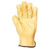Строительные перчатки, кожаные. Размер 9
