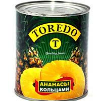 Ананас кільцями 580мл TOREDO (1/24)***