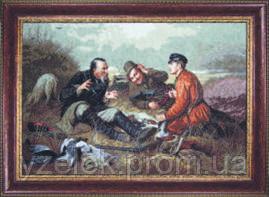 Набор для вышивания по мотивам В.Г. Перова «Охотники на привале»