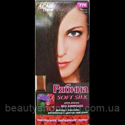 Крем-краска для волос без аммиака Рябина Soft Silk с флюидом 770 Темно-русый