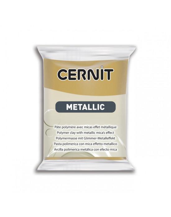 Новинка! Полимерная глина Цернит Cernit серия Металлик, старое золото Rich Gold, 56г