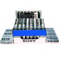 Батарейки солевые SONY AАA мизинчиковые, R 03, упаковка — 48 шт