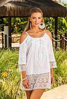 Платье, туника летнее из хлопка кружевное Индиано 1323, фото 1