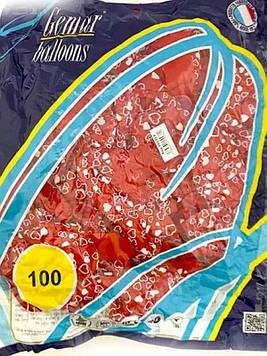 Шар воздушный сердце 991914 красное 100шт Gemar
