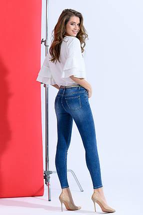 Зауженные джинсы классического цвета, фото 2