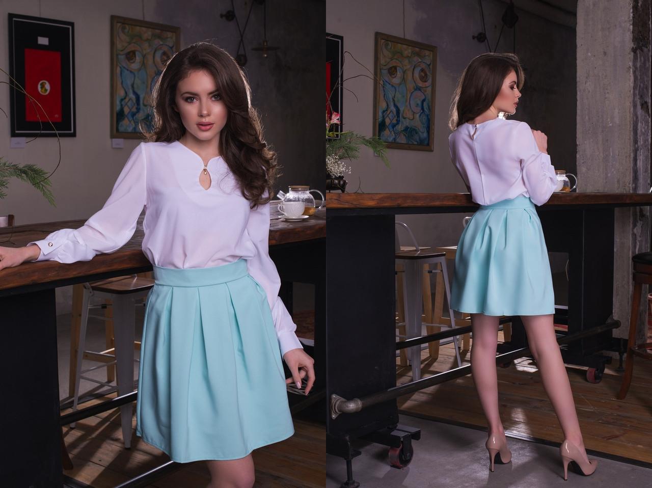 """Женская шифоновая блуза """"Becks"""" с длинным рукавом (11 цветов)"""