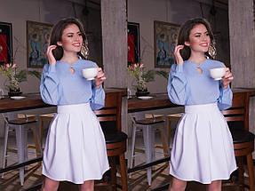 """Женская шифоновая блуза """"Becks"""" с длинным рукавом (11 цветов), фото 3"""