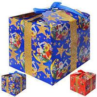 """Коробка подарочная бумажная """"Новый год"""" R87455, 12шт/уп (цена за 1 шт), разные цвета, коробки для подарков, подарочная коробка, коробочки"""