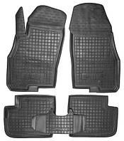 Коврики в салон Fiat Punto III (Grande Punto) 2005 - 2018 черные, полиуретановые (Avto-Gumm) - комплект (4
