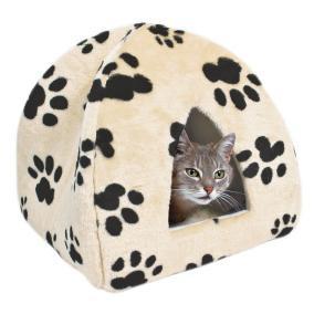 """Trixie Лежак-пещера для кошки """"Sheila' 40х40х30см, бежевый с """"лапками"""""""