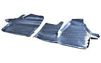 Коврики в салон Vw Transporter T5 2003 - 2015, черные, полиуретановые (Петропласт PPL-40743122) - передний ряд
