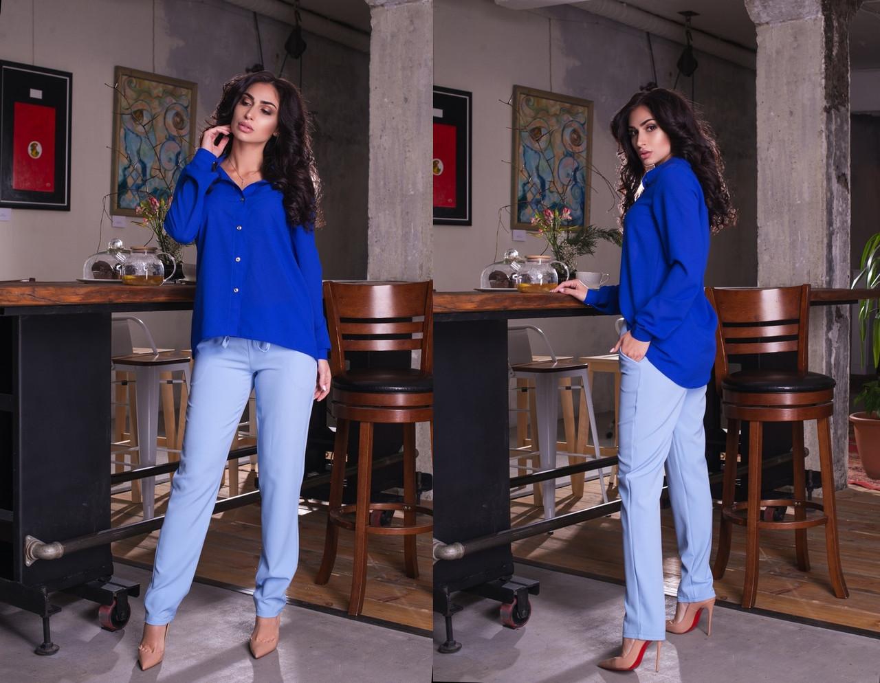 """Стильные женские брюки на резинке """"Casual"""" с карманами (7 цветов)"""