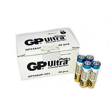 Батарейки алкалайн  GP Power Ultra AAА мизинчиковые, R 03, упаковка — 40 шт