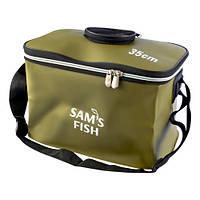 Сумка ЭВА SF23841 складная с отверстием для живца, 35см, оливковый, сумки, ящик, ящик коробка, чехлы, ящик для рыбалки, сумки для рыбалки