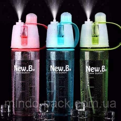 Бутылка для воды с распылителем для спорта, поездки, на велосипед