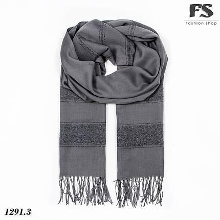 Весняний темно-сірий  легкий шарф Дана, фото 2