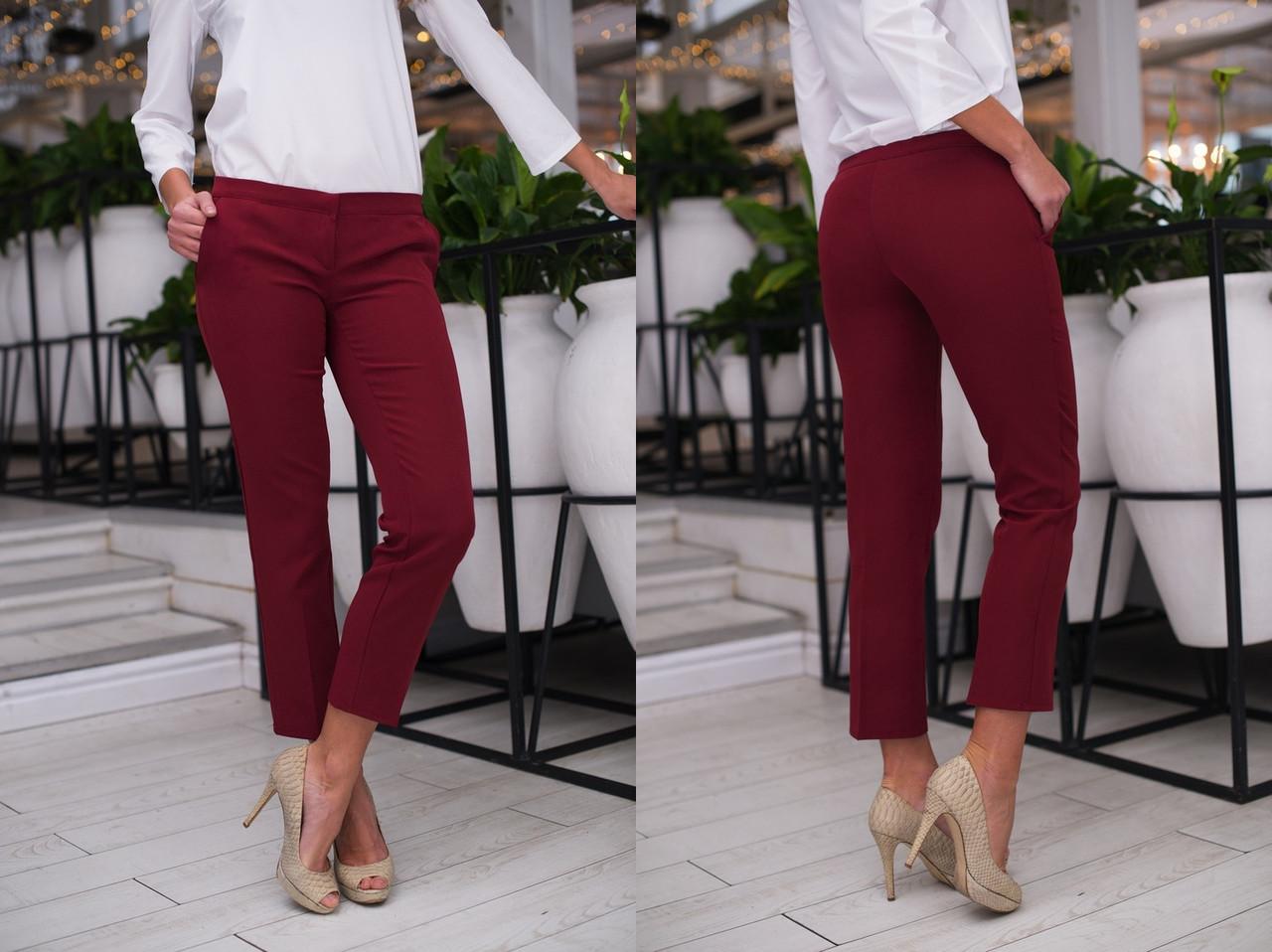 """Укороченные женские брюки """"ALEX"""" с карманами (4 цвета)"""