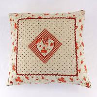Подушка декоративна червона