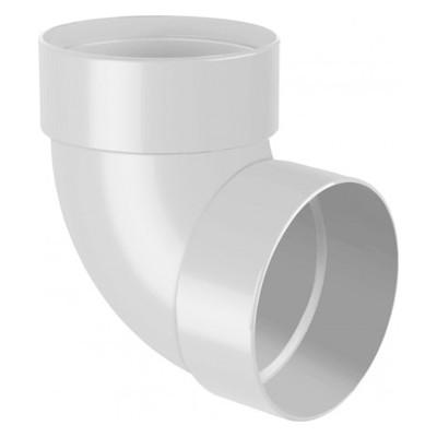 Колено двухмуфтовое D130 белое 100 мм (67°)