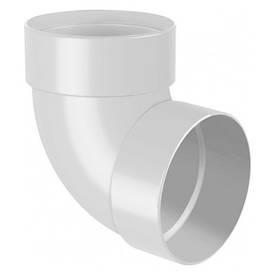 Отвод двухмуфтовый для водосточной системы белый 100 мм (67°)