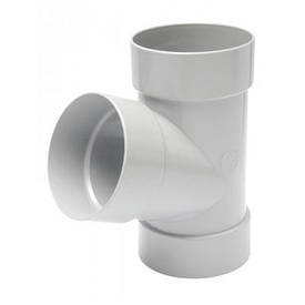 Тройник белый (100 мм)