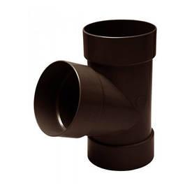 Тройник коричневый (100 мм)