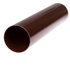 Труба коричневая для водосточной системы 75 мм (3 м)