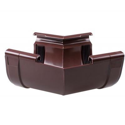 Угол желоба наружный для водосточной системы 90° коричневый (130 мм)