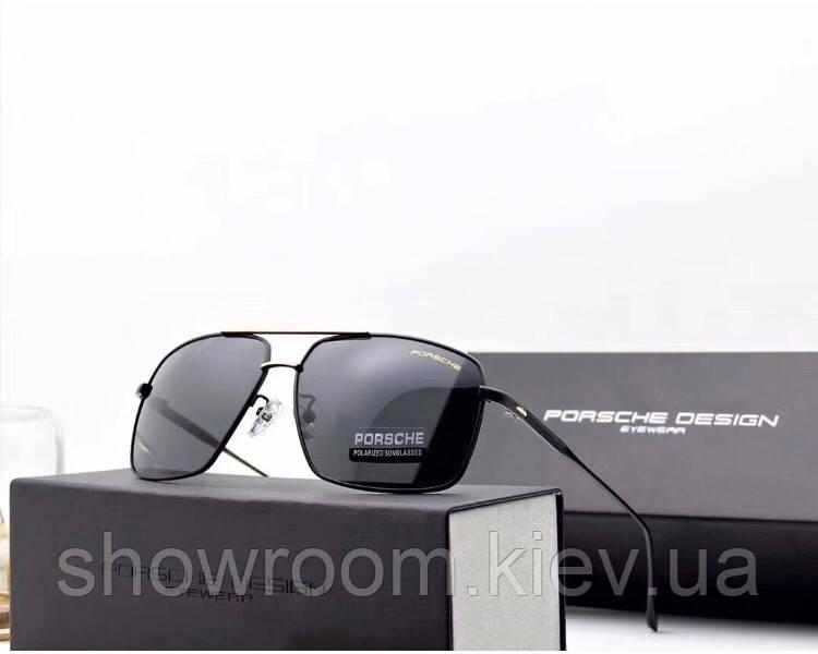 Солнцезащитные очки в стиле Porsche Design c поляризацией (p-8831) black