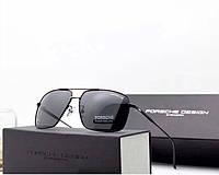 Солнцезащитные очки в стиле Porsche Design c поляризацией (p-8831) black, фото 1