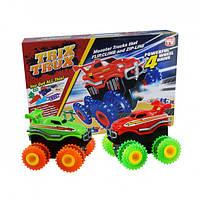 🔝 Конструктор канатный трек Trix Trux с машинкой Монстр трак, детский конструктор, игры для мальчиков | 🎁%🚚