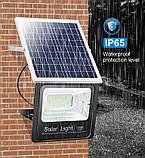 Светодиодный прожектор 25W на солнечной батарее с пультом. Фонарь солнечный., фото 2