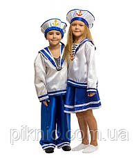 Дитячий карнавальний костюм для дівчинки Морячка 5,6,7,8,9 років 344, фото 3