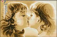 Картина для рисования камнями стразами Diamond painting Алмазная вышивка алмазами мозаика дети поцелуй iLife
