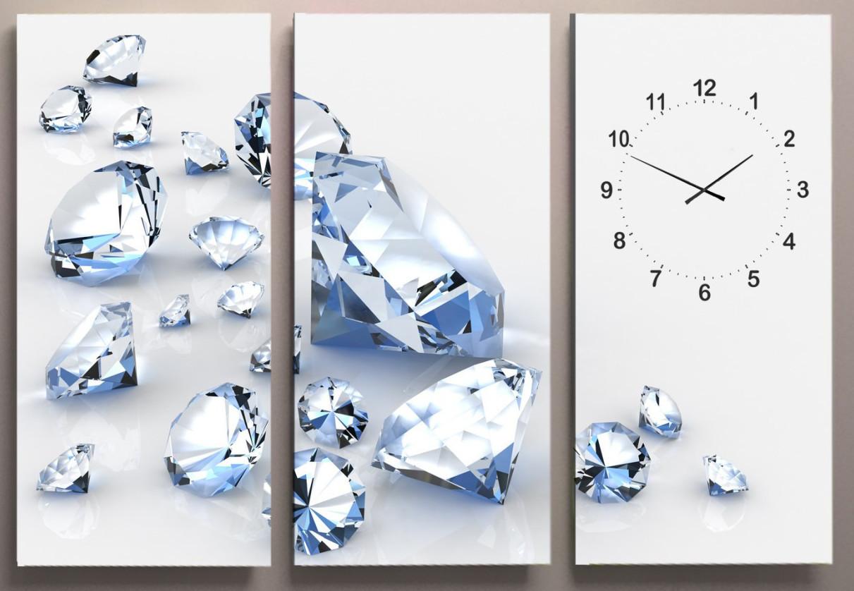 Годинник настінний діаманти 90х60