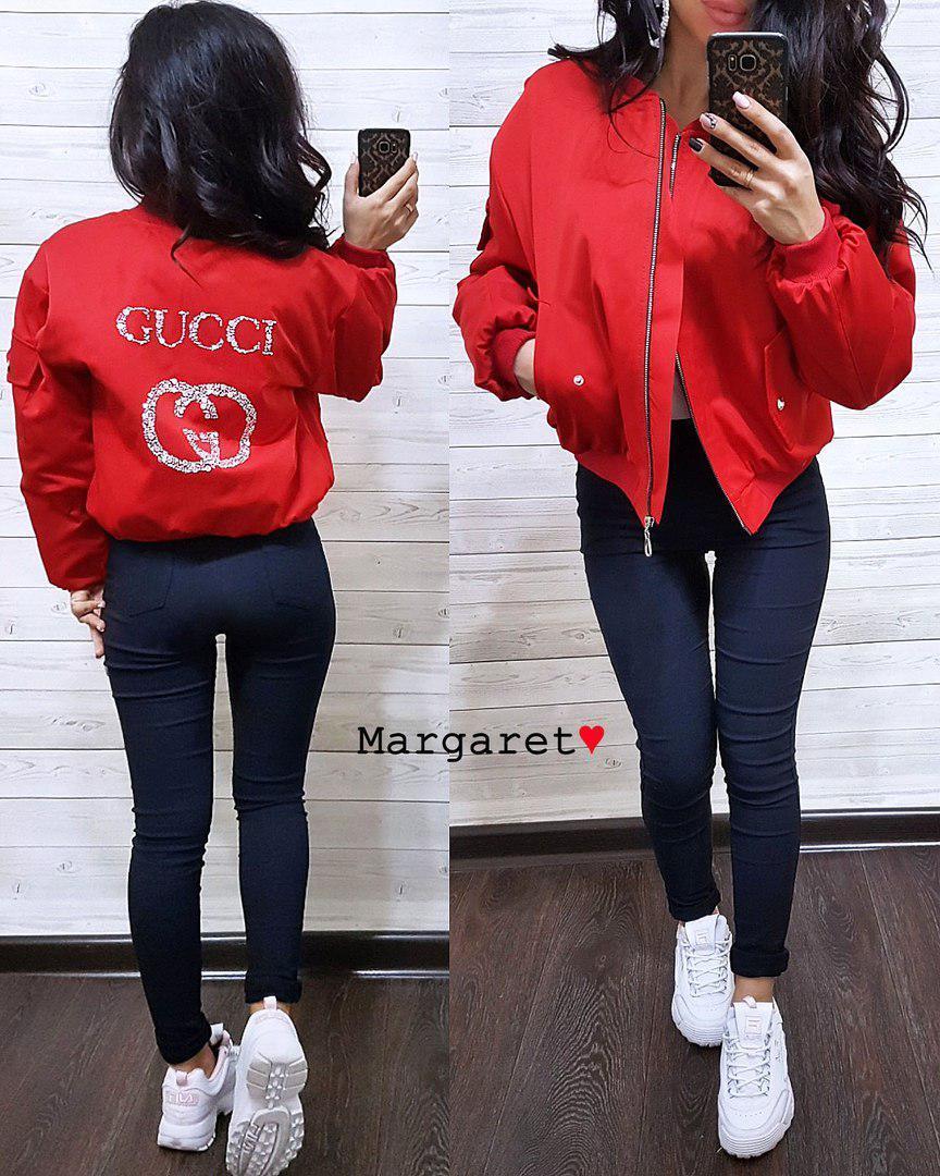 ce08fac03 Куртка-бомбер люксовая реплика GUCCI (3 цвета) - Оптово-розничный интернет-