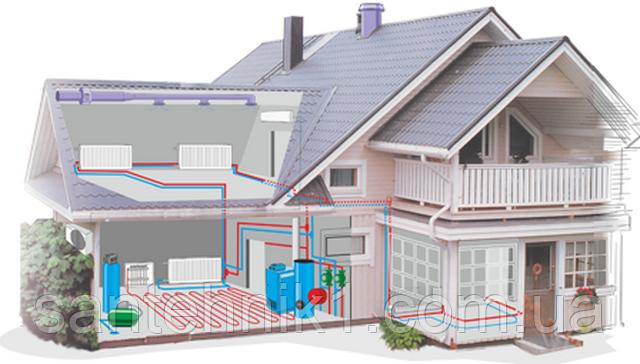 Монтаж, установка системы отопления в частном доме