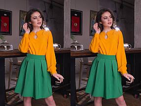 """Стильная женская юбка-колокол """"SUZAN"""" со складками (8 цветов), фото 2"""