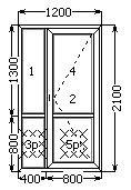Металлопластиковая дверь входная полуторная 1200х2100 часть глухая в Николаеве