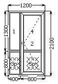 Металлопластиковая дверь входная полуторная 1200х2100 часть глухая в Николаеве, фото 2