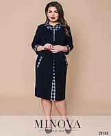Платье в деловом стиле с контрастными вставками с 52 по 62 размер, фото 1