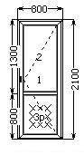Металопластикові міжкімнатні двері 800х2100 Миколаїв купити, фото 2
