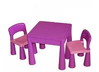 Комплект детской мебели Tega Baby Mamut (стол + 2 стула) Light violet/Dark violet