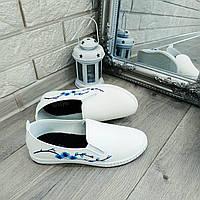 Женские мокасины оптом легкие Сакура голубая, фото 1